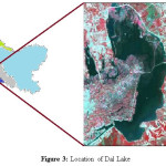 Figure 3: Location of Dal Lake