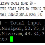 Fig-7 State wise data of 2010 which census small is more than 30